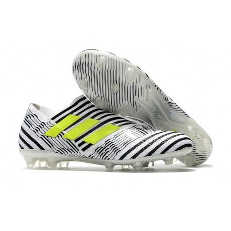 Botas de fútbol para Hombre Adidas Nemeziz 17+ 360 Agility FG Blanco Amarillo Negro