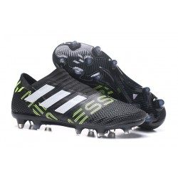 Botas de fútbol Adidas Nemeziz 17+ 360 Agility FG Negro Blanco Amarillo