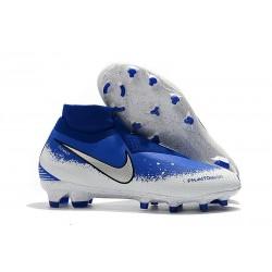 Botas de fútbol Nike Phantom VSN Elite DF FG Azul Blanco Plata