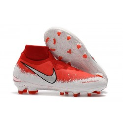 Botas de fútbol Nike Phantom VSN Elite DF FG Fully Charged Rojo