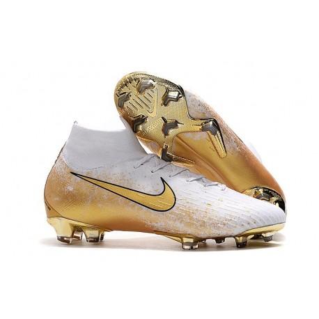 Nike Botas de Fútbol Mercurial Superfly 6 Elite FG Blanco Oro