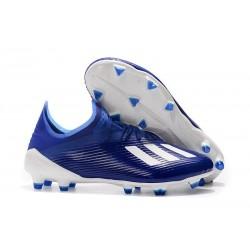 Zapatillas de Fútbol adidas X 19.1 FG Azul Blanco