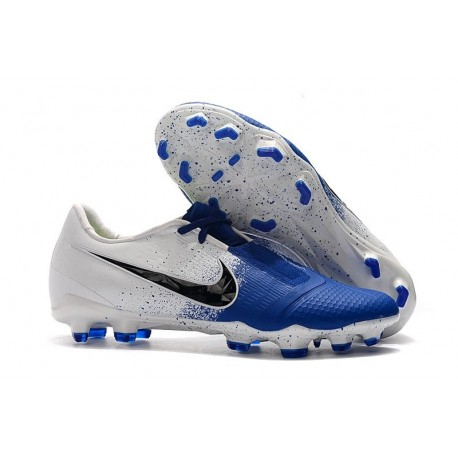 Botas de Fútbol Nike Phantom Venom Elite FG Blanco Azul Negro