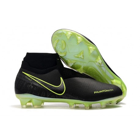 Nike Phantom Vision Elite DF FG Zapatos de Fútbol Amarillo Fluorescente Negro