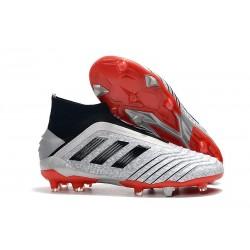 Zapatillas de Fútbol adidas Predator 19+ FG Argento Rojo Negro