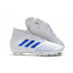Zapatillas de Fútbol adidas Predator 19+ FG Blanco Azul