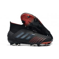 Zapatillas de Fútbol adidas Predator 19+ FG Negro Rosso
