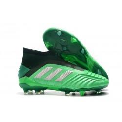 Zapatillas de Fútbol adidas Predator 19+ FG Verde Argento