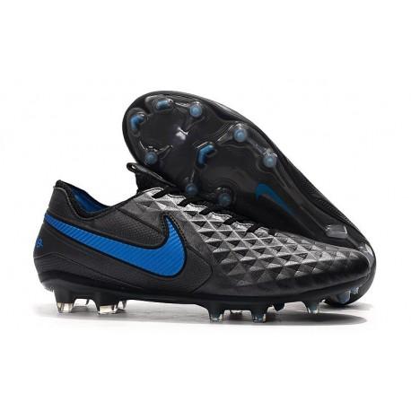 Zapatos de Fútbol Nike Tiempo Legend 8 Elite FG Negro Azul