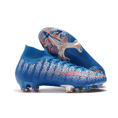 Nike Mercurial Superfly VII Elite FG Zapatos Azul Rojo
