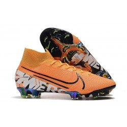 Nike Mercurial Superfly VII Elite FG Zapatos Naranja Blanco