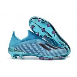 Zapatos de Fútbol adidas X 19+ FG Cian Brillante Negro