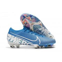 Botas de fútbol Nike Mercurial Vapor 13 Elite FG Azul Blanco