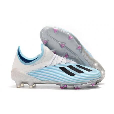 Zapatillas de Fútbol adidas X 19.1 FG Azul Blanco Negro