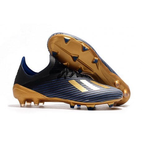 Zapatillas de Fútbol adidas X 19.1 FG Negro Oro Azul
