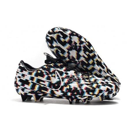 Zapatos de Fútbol Nike Tiempo Legend 8 Elite FG Negro Blanco