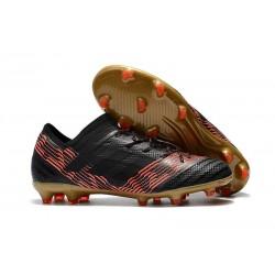 Botas de fútbol Adidas Nemeziz Messi 17.1 FG para Hombre Nergo Rojo Oro