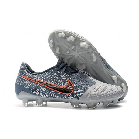 Botas de Fútbol Nike Phantom Venom Elite FG Gris Negro Azul