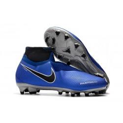 Botas de fútbol Nike Phantom VSN Elite DF FG Azul Negro Plateado Volt