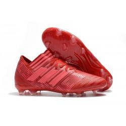 Nuevo Botas de fútbol Adidas Nemeziz Messi 17.1 FG Rojo Rosa