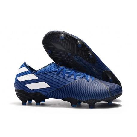 Bota Nuevo adidas Nemeziz 19.1 FG Azul Blanco