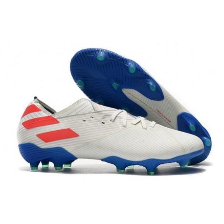 Bota Nuevo adidas Nemeziz 19.1 FG Blanco Rojo Azul