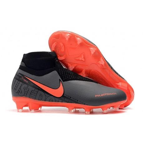 Nike Phantom Vision Elite DF FG Zapatos de Fútbol Negro Rojo