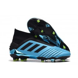 adidas Predator 19+ FG Zapatos de Futbol Azul Negro