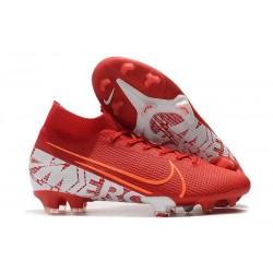 Nike Mercurial Superfly VII Elite FG Zapatos Rojo Blanco