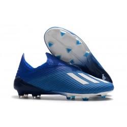 Zapatos de Fútbol adidas X 19+ FG Azul Blanco