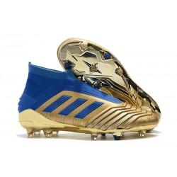 adidas Predator 19+ FG Zapatos de Futbol Oro Azul