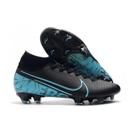 Nike Mercurial Superfly VII Elite FG Zapatos Negro Azul
