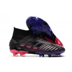 adidas Predator 19+ FG Zapatos de Futbol Negro Rosa Azul