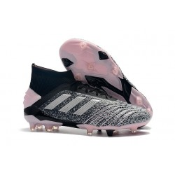 adidas Predator 19+ FG Zapatos de Futbol Negro Gris Rosa