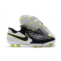 Zapatos de Fútbol Nike Tiempo Legend 8 Elite FG Negro Blanco Voltio
