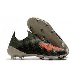 Zapatos de Fútbol adidas X 19+ FG Verde Naranja Chalk
