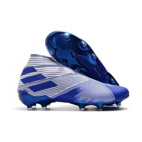 adidas Tacos de Futbol Nemeziz 19+ FG - Blanco Azul