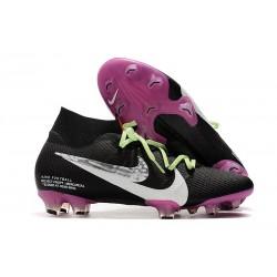 Nike Botas de Fútbol Mercurial Superfly 7 Elite SE FG Negro Violeta Blanco
