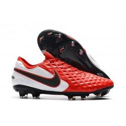 Zapatos de Fútbol Nike Tiempo Legend 8 Elite FG Rojo Blanco Negro