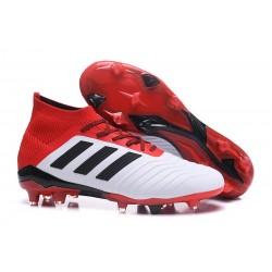 Botas de fútbol Adidas Predator 18.1 FG Blanco Negro Rojo