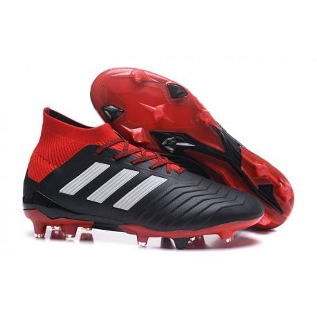 Botas de fútbol Adidas Predator 18.1 FG Para Hombre Negro Rojo Blanco