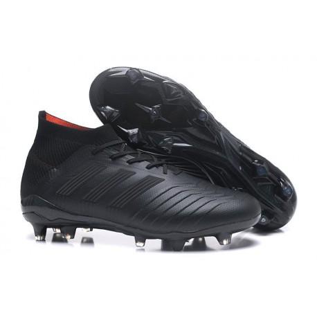 Nuevo Zapatillas de fútbol adidas Predator 18.1 FG Todo Negro