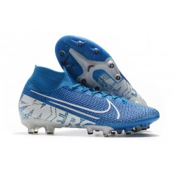 Nike Mercurial Superfly 7 Elite AG-Pro New Lights Azul Blanco
