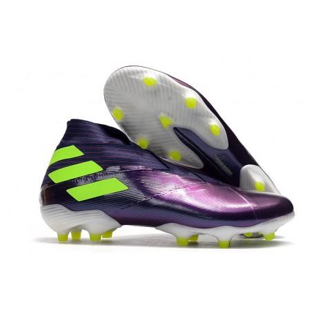 Bota de Futbol adidas Nemeziz 19+ FG Violeta Amarillo