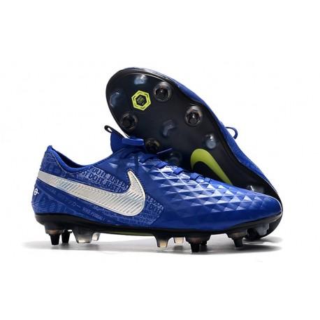 Bota Nike Tiempo Legend 8 Elite SG-Pro AC Azul Plata