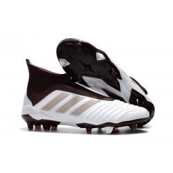 Nuevo Zapatillas de fútbol Adidas Predator 18+ FG Blanco MarrÓN