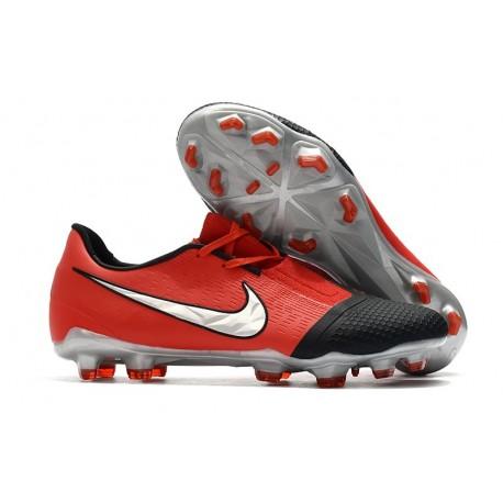 Zapatillas Futbol Nike Phantom Vnm Elite FG Láser Crimson Plata Negro