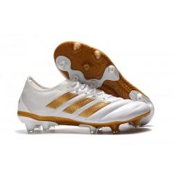 Nuevo Adidas Copa 19.1 FG Zapatillas de fútbol Blanco Oro