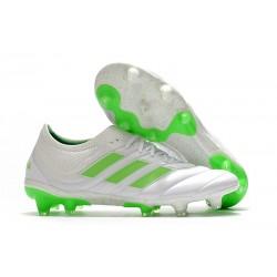 Nuevo Adidas Copa 19.1 FG Zapatillas de fútbol Blanco Negro Verde