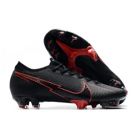Nike Mercurial Vapor 13 Elite FG Hombres Negro Rojo
